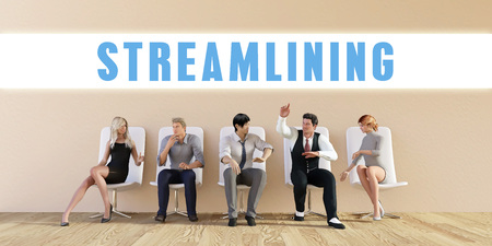 streamlining: Business Streamlining Being Discussed in a Group Meeting