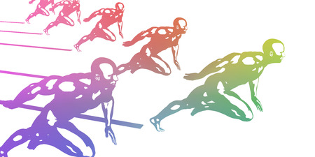 sporting event: Sports Background with Athletes in Sporting Event