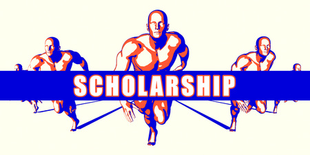 scholarship: Scholarship as a Competition Concept Illustration Art