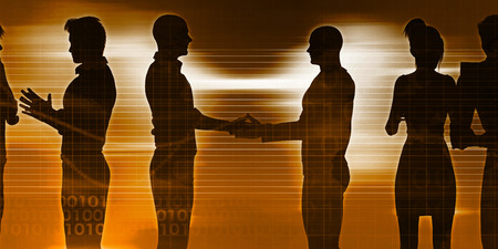 entities: Business Discussion Between Two Teams of Executives
