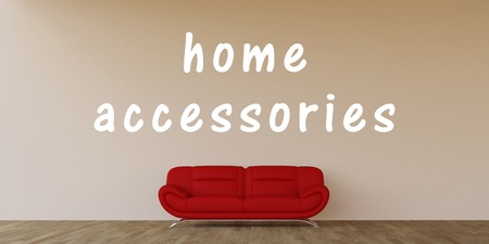 clean home: Home Accessories Concept with Home Interior Art