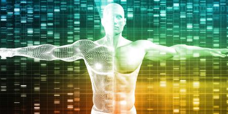 Wissenschaft Technologie Daten, die als abstrakte Kunst
