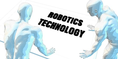 robotics: Robotics Technology Discussion and Business Meeting Concept Art Stock Photo