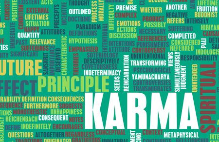 Karma as a Spiritual Concept Abstract Art Stock Photo