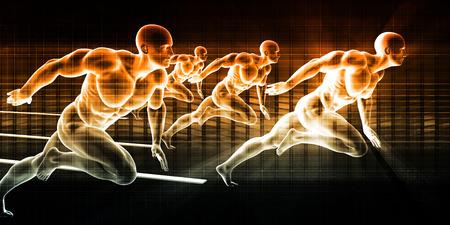 deportistas: Antecedentes de deportes con atletas en evento deportivo Foto de archivo