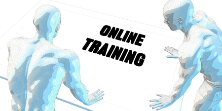 online trading: Online Trading Discussion and Business Meeting Concept Art