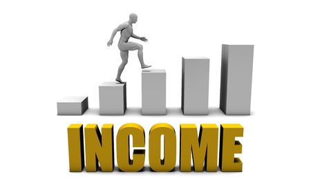 increase business: Increase Your Income  or Business Process as Concept Stock Photo