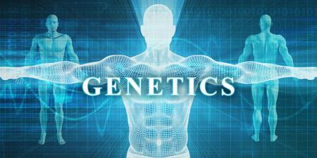 La genética como un campo de especialidad médica o departamento Foto de archivo