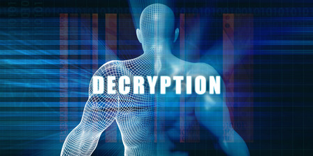 decryption: Decryption as a Futuristic Concept Abstract Background