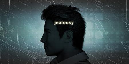 celos: Los celos hombre experimenta como un desafío personal concepto