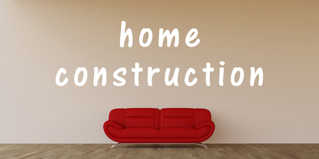 house construction: Home Construction Concept with House Interior Art