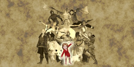 literary characters: Children Fantasy Book Concept Using Their Imagination