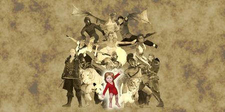 imagination: Children Fantasy Book Concept Using Their Imagination