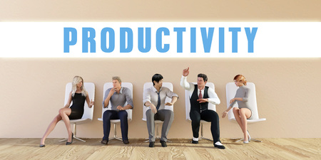 discussed: Business Productivity Being Discussed in a Group Meeting
