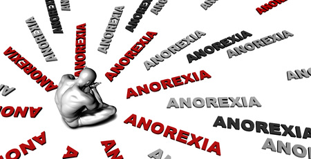overwhelming: Suffering From Anorexia with a Victim Crying Male Stock Photo