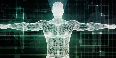 Healthcare Technology With a Human Body Scan Concept