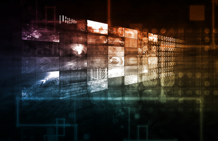 plataforma: Infraestructura tecnológica como IT Abstract Art