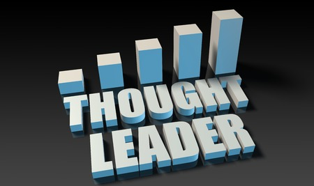 experienced: Thought leader graph chart in 3d on blue and black