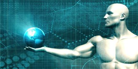 infotech: Business Technology Concept as a Abstract Art