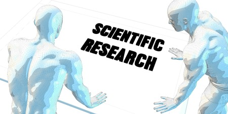 scientific research: Scientific Research Discussion and Business Meeting Concept Art