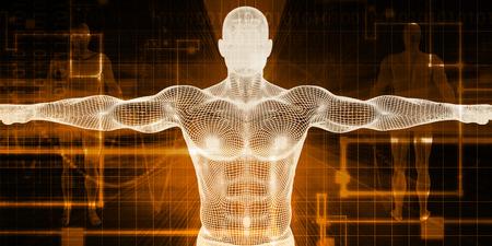 Medical Scan-System und Körper Screening Checkup Lizenzfreie Bilder - 56167353