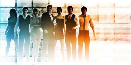 business team: Business Team of Executives as a Success Concept Stock Photo