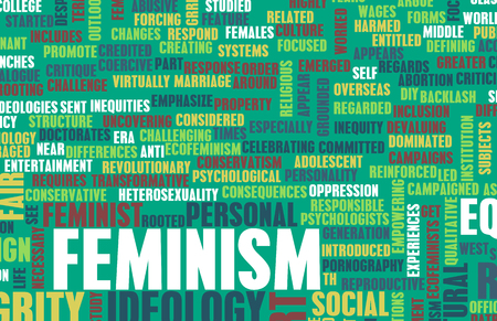 feminism: Feminism Ideology for Equality and Fair Treatment Stock Photo