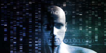 modification: Genetic Modification as a Science Concept Industry Art Stock Photo