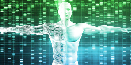 encoding: DNA Encoding and Genetic Code as a Science Abstract Stock Photo