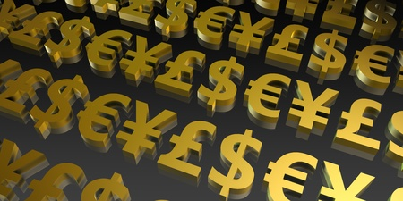 currencies: Currency Symbols Abstract Background of the World