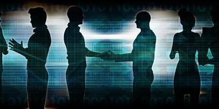 joint effort: Exchanging Ideas Between Businessmen and Discussion Art