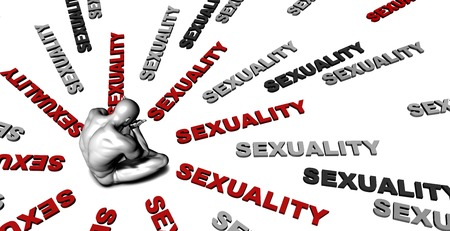 sexualidad: El sufrimiento de la sexualidad con una víctima llanto masculino