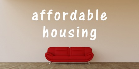 affordable: Affordable Housing Concept with Home Interior Art