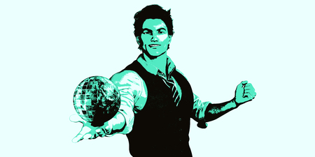 innovator: Global Technology Concept with Man Holding Globe