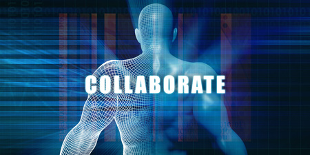 collaborate: Collaborate as a Futuristic Concept Abstract Background