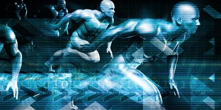 미래의 기술 배경 및 미래의 시각적 데이터