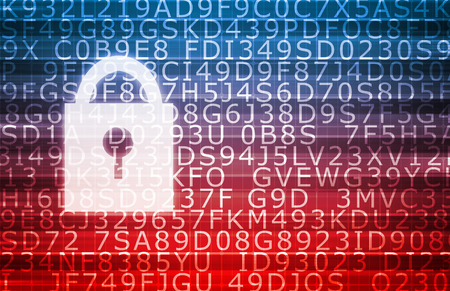 digitization: Data Center Secure Servers as a Abstract Background