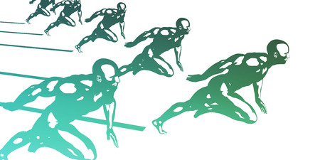 male athlete: Progress in Business as a Competition Race Stock Photo