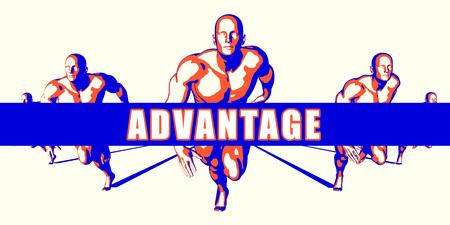 advantage: Advantage as a Competition Concept Illustration Art