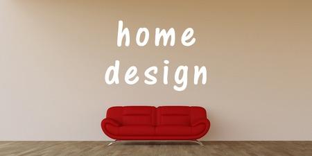 home design: Home Design Concept with Home Interior Art Stock Photo