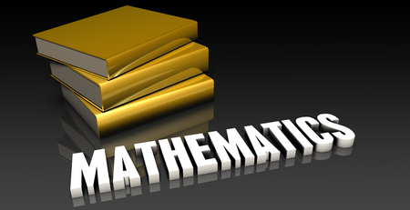 subject: Mathematics Subject with a Pile of Education Books Stock Photo