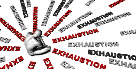 exhaustion: Suffering From Exhaustion with a Victim Crying Male