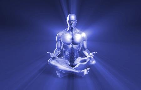 spirituality: Spirituality and Enlightenment Through Rays of Light Stock Photo