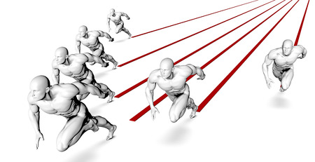 sprinting: Business Success Concept with Running Men Art