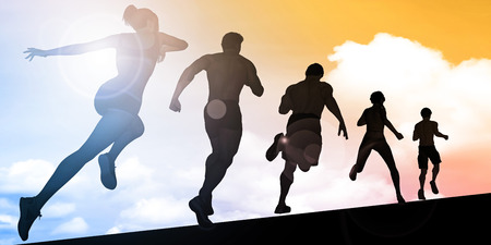 Cardio Training and Building Stamina in Training Zdjęcie Seryjne - 57289235