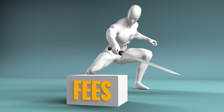 fees: Cutting Fees and Cut or Reduce Concept