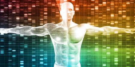 Secuencia de ADN con Genética de datos de un varón humano Foto de archivo