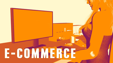 learning new skills: E-commerce Concept Course with Woman Looking at Computer