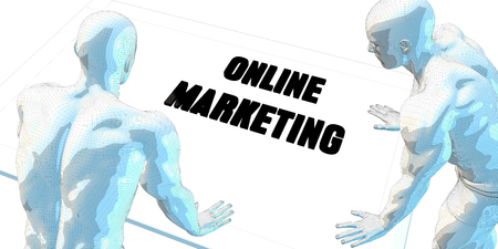 business meeting: Online Marketing Discussion and Business Meeting Concept Art