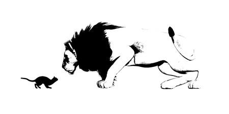 hardship: Mirror of Cat and Lion as a Adversity Concept